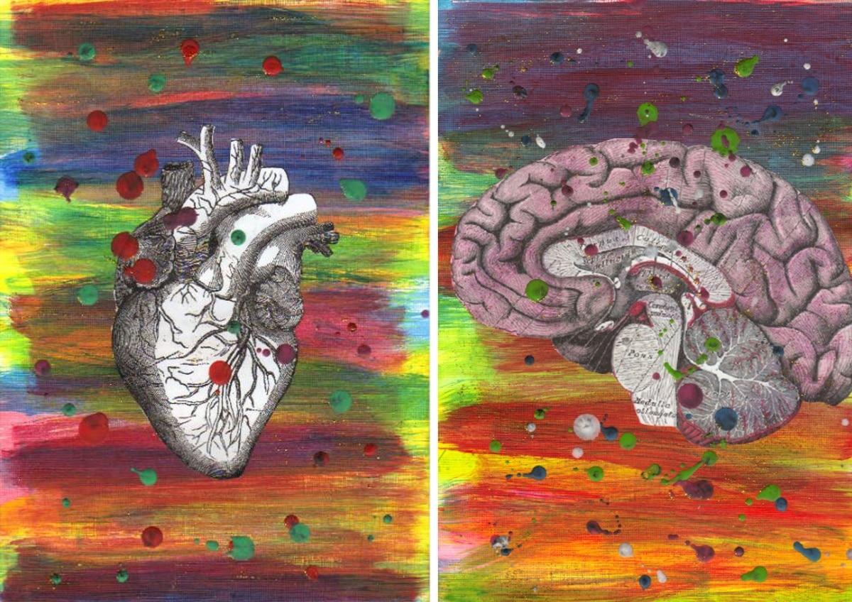 Preciosa pintura con los dos órganos