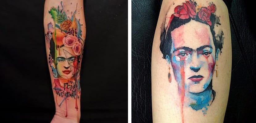 Tatuajes en color de Frida