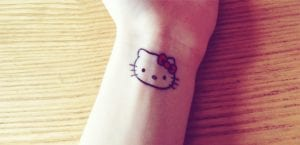 Tatuaje de Hello Kitty