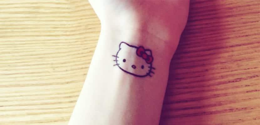 Tatuaje de Hello Kitty