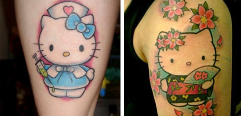 Tatuaje divertido de Hello Kitty