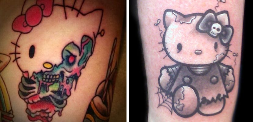 Tatuaje terrorífico de Hello Kitty