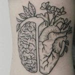Tatuajes de cerebro y corazón