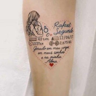 Tatuajes De Hijos Recién Nacidos Para Recordar Siempre Ese Momento
