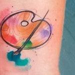 Tatuajes de paletas de pintura