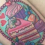 Tatuajes de porciones de tarta