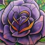Tatuajes de rosas old school