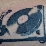 Tatuajes de tocadiscos