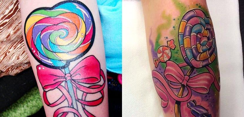 Tatuajes de piruletas