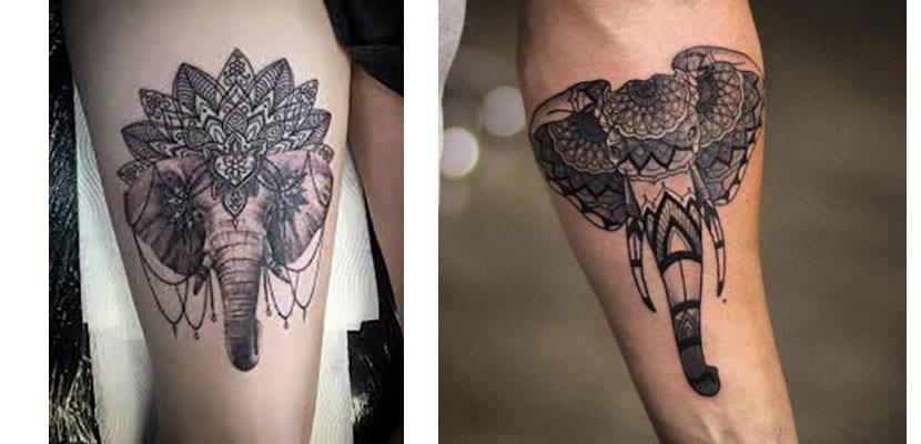 Tatuajes de elefantes hindúes