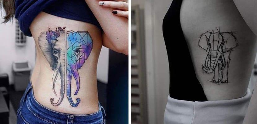 Tatuajes de elefantes modernos