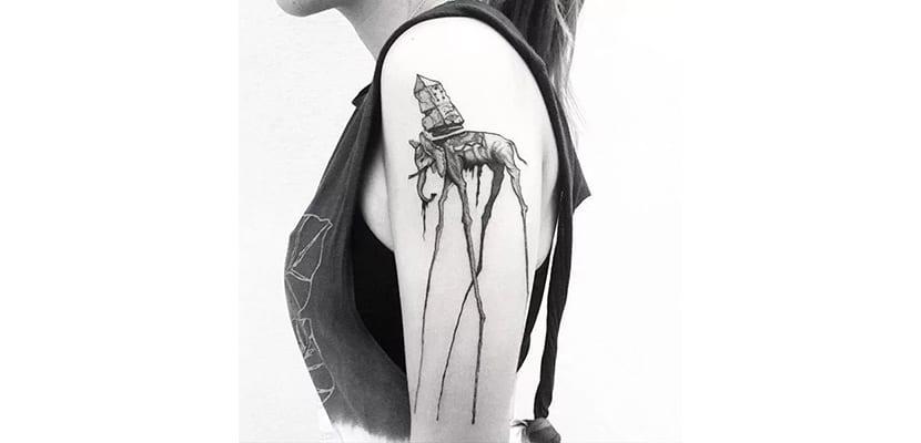Tatuaje original de elefante