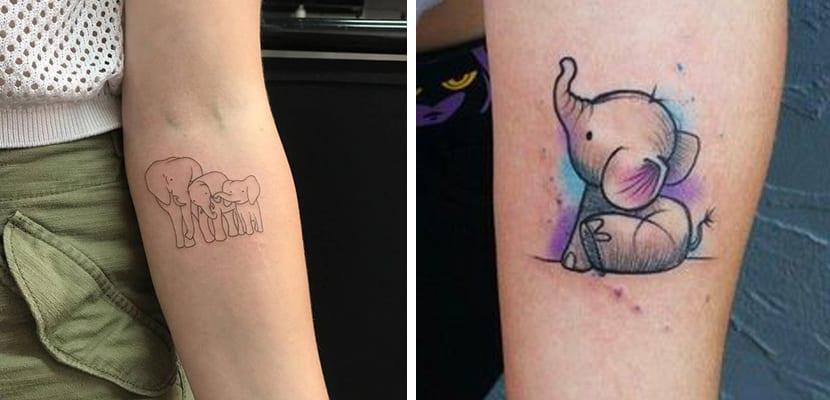 Tatuaje de elefantes