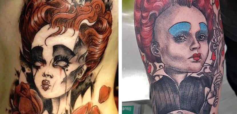 Tatuaje de la Reina de Corazones