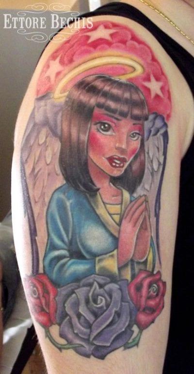 Tatuajes de ángeles dibujo
