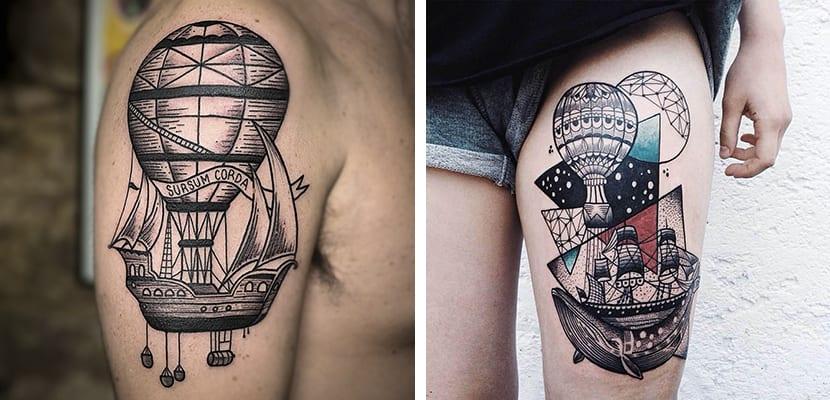 Globos con un barco