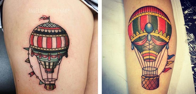Tatuajes de globos de colores