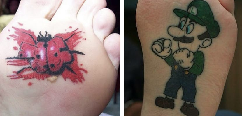Tatuajes divertidos en la planta del pie