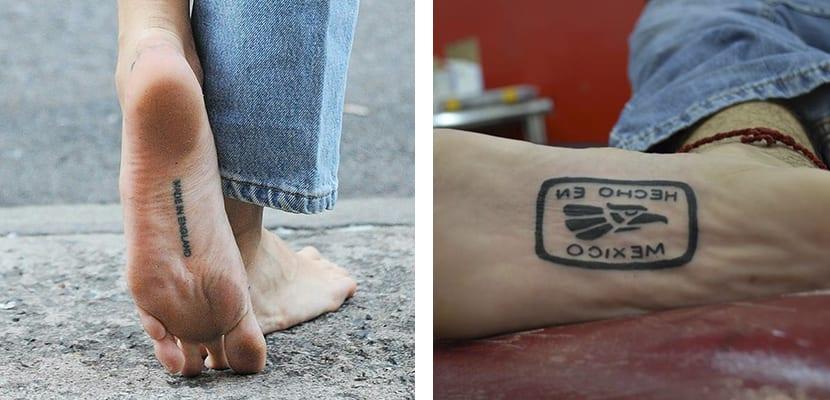 Tatuajes que imitan etiquetas