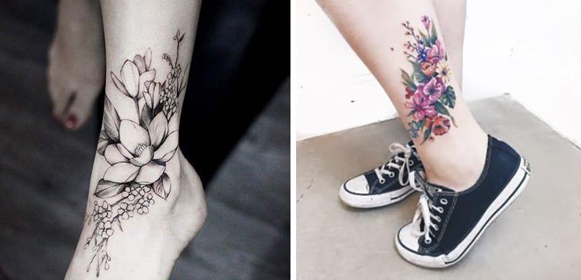 Tatuajes grandes de flores