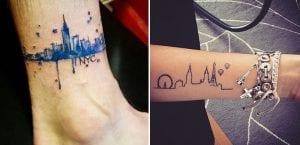 Tatuajes de ciudades para viajeros