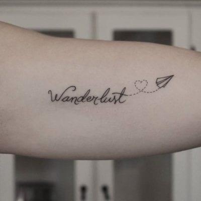 Tatuajes wanderlust brazo