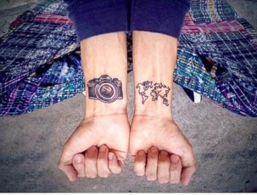 Tatuajes wanderlust cámara
