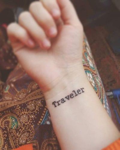 Tatuajes wanderlust palabra
