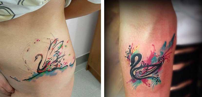 Tatuaje de cisne