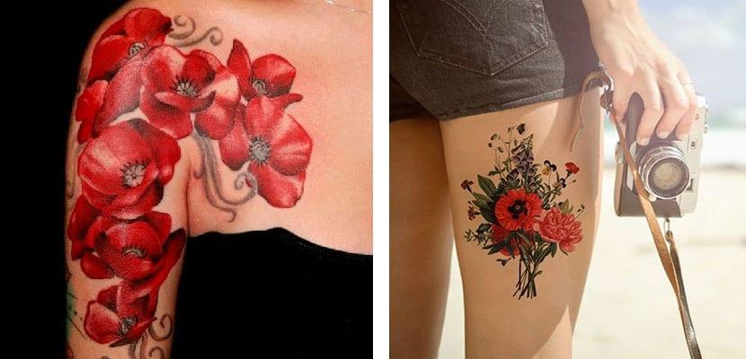 Tatuajes de bouquets