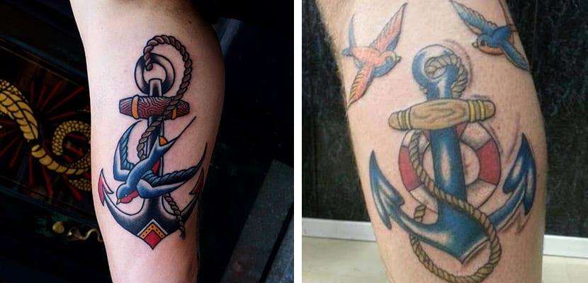 Tatuajes con golondrinas