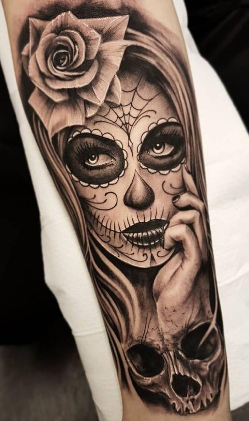Tatuajes con catrinas