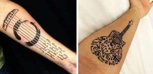 Tatuajes de música