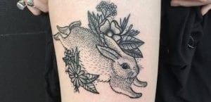 Tatuaje de conejo