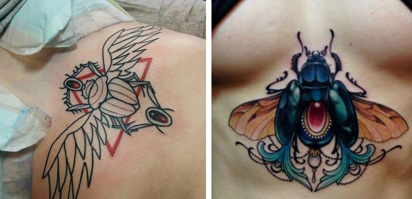 Tatuaje de escarabajo