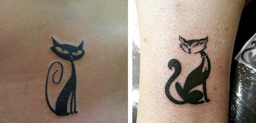 Tatuaje caricatura de gato