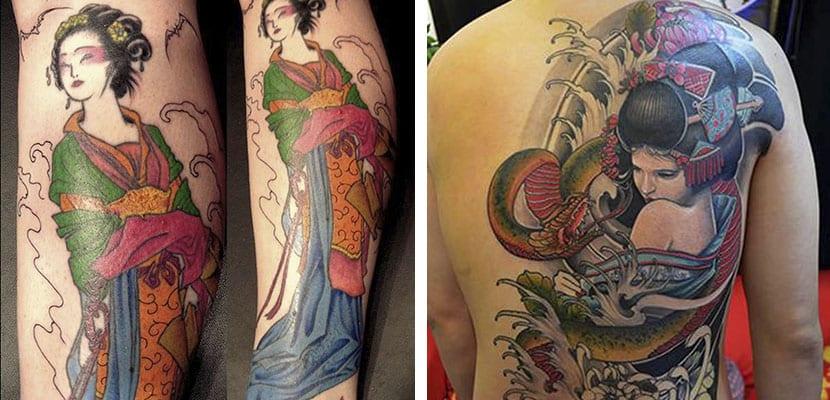 Tatuajes de geishas