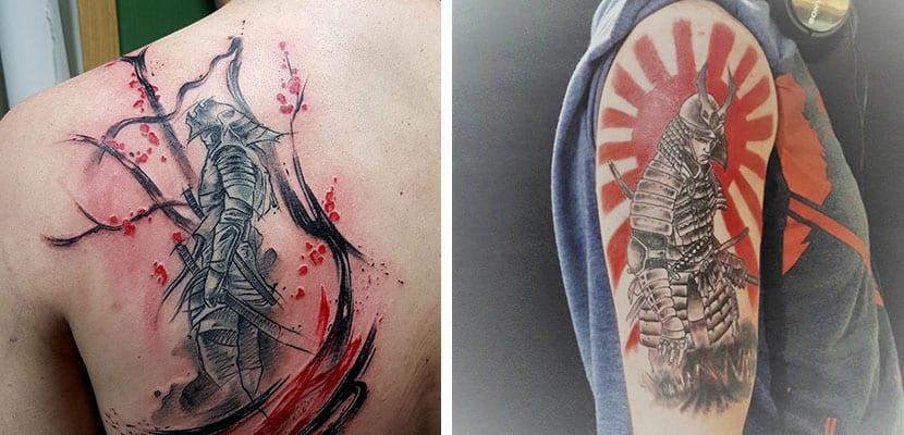 Tatuaje de samurais