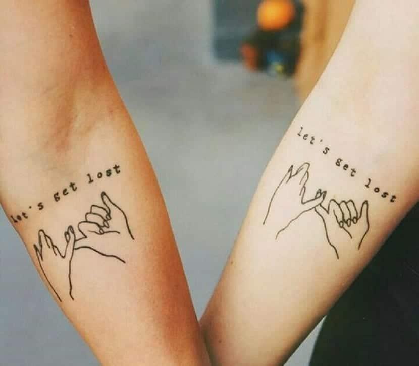 Diseños de tatuajes de amigas