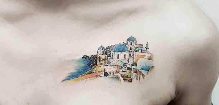 Tatuaje de Santorini