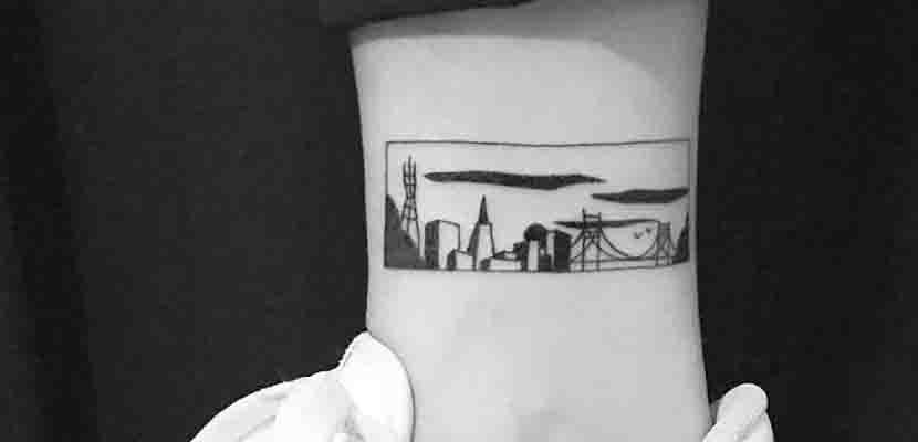 Tatuaje del skyline