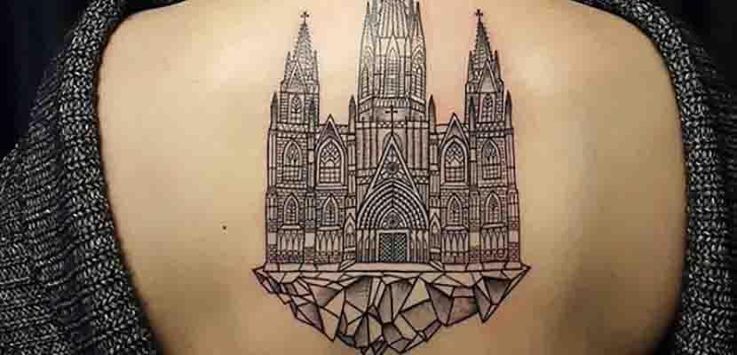 Tatuaje de catedral