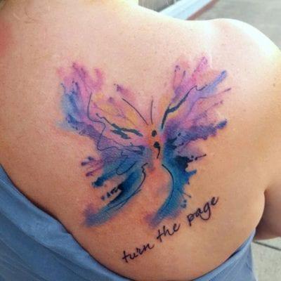Tatuajes con punto y coma espalda