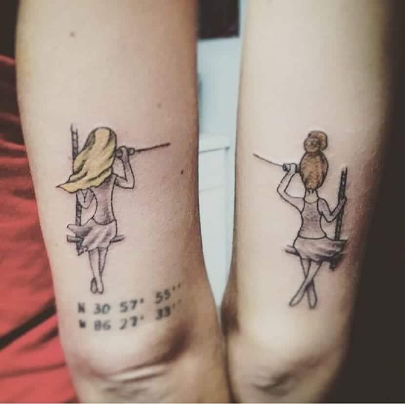 Tatuajes de amigas inseparables
