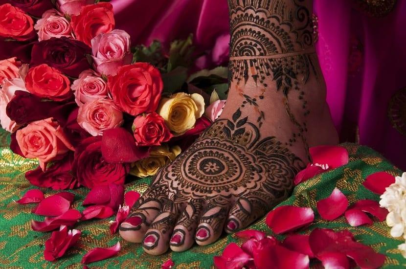 Tatuajes de Henna en pies