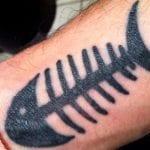 Tatuajes de raspas de pescado