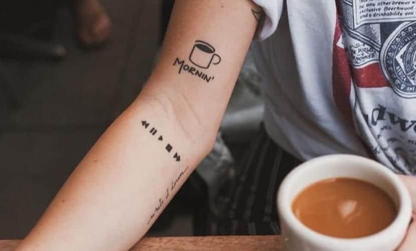 Tatuajes de tazas de café