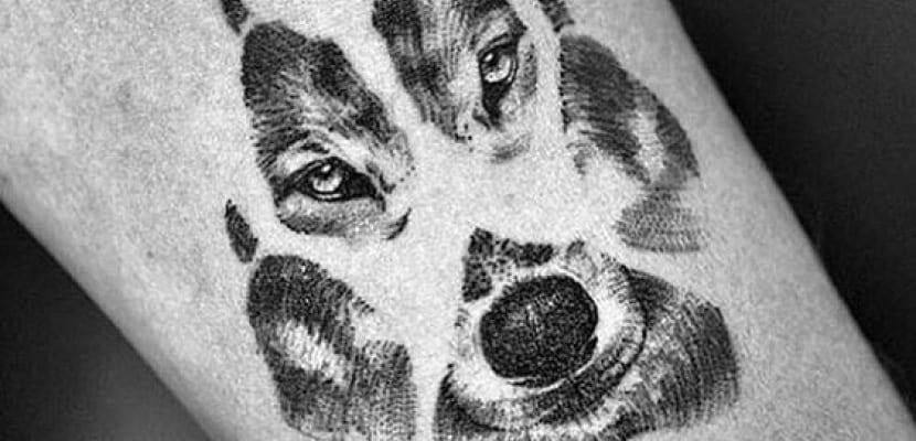 Tatuajes de perros con huellas