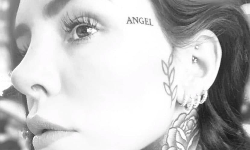 Cande Tinelli - nuevo tatuaje en la cara