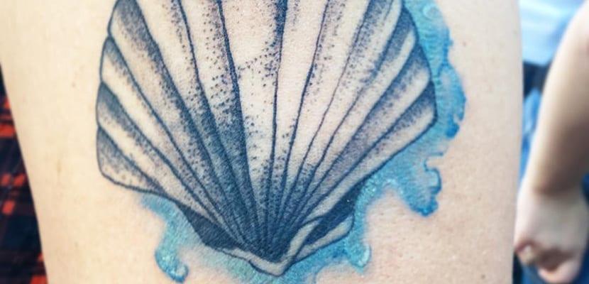 Tatuaje de concha